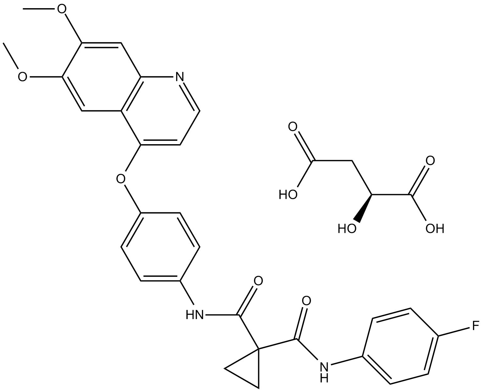 Cabozantinib malate (XL184)