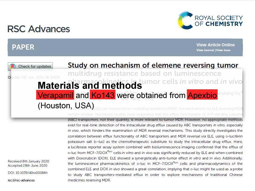 Study on mechanism of elemene reversing tumor multidrug