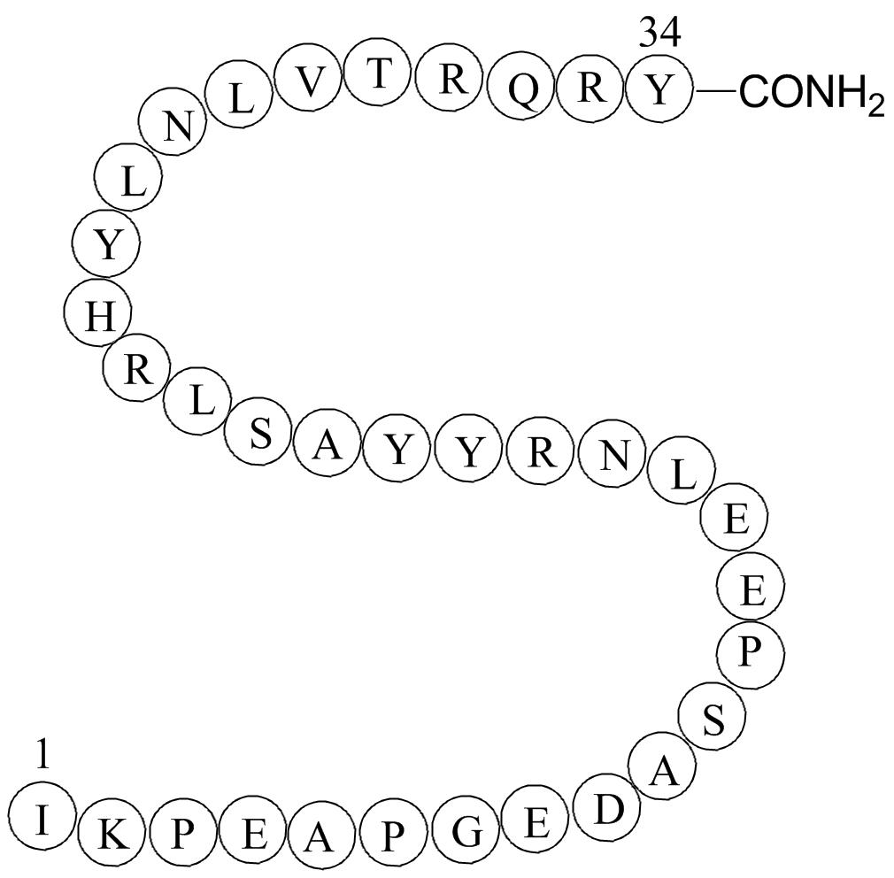 Peptide YY(3-36), PYY, human