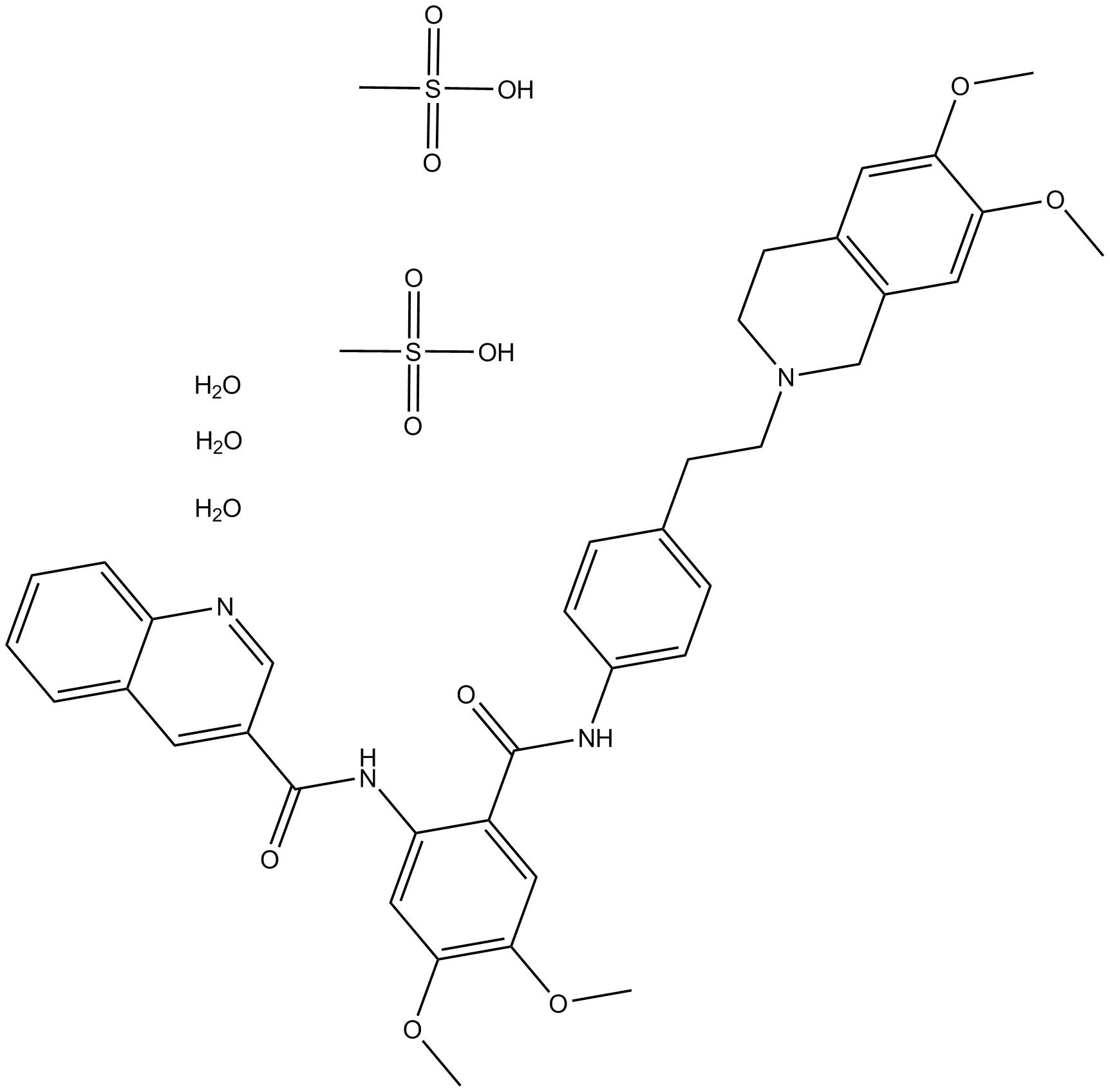 Tariquidar methanesulfonate, hydrate