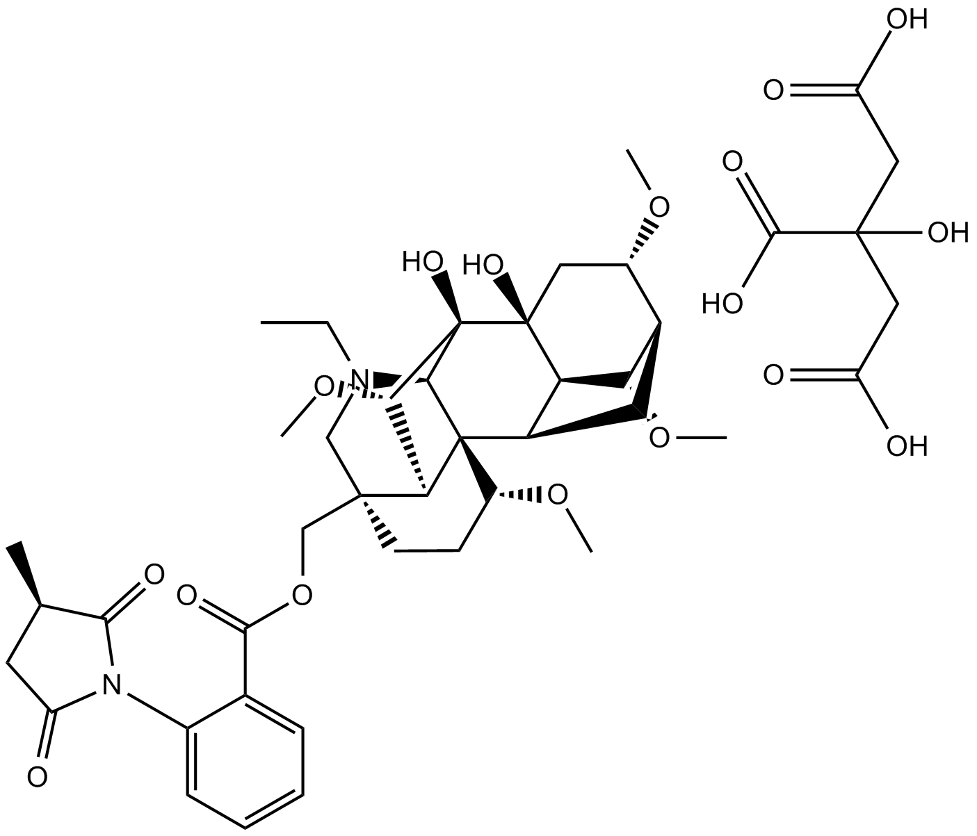 Methyllycaconitine citrate