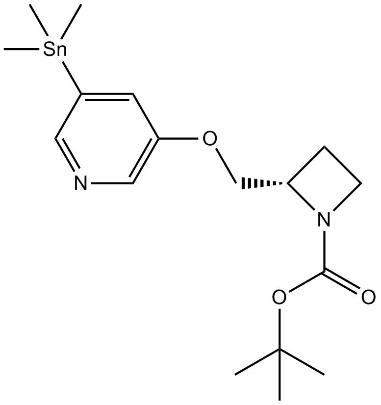 5-Iodo-A-85380, 5-trimethylstannyl N-BOC derivative