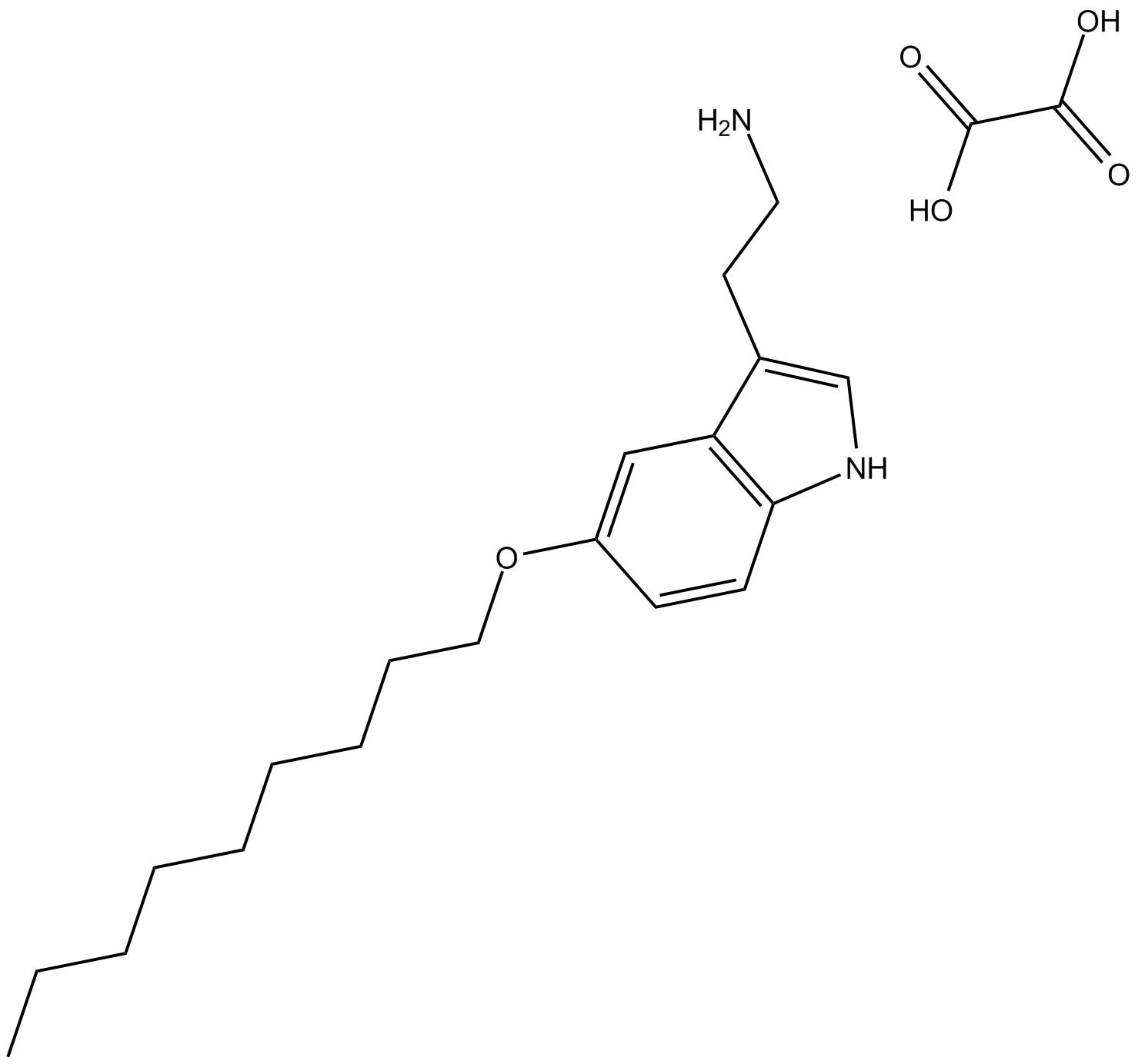 5-Nonyloxytryptamine oxalate