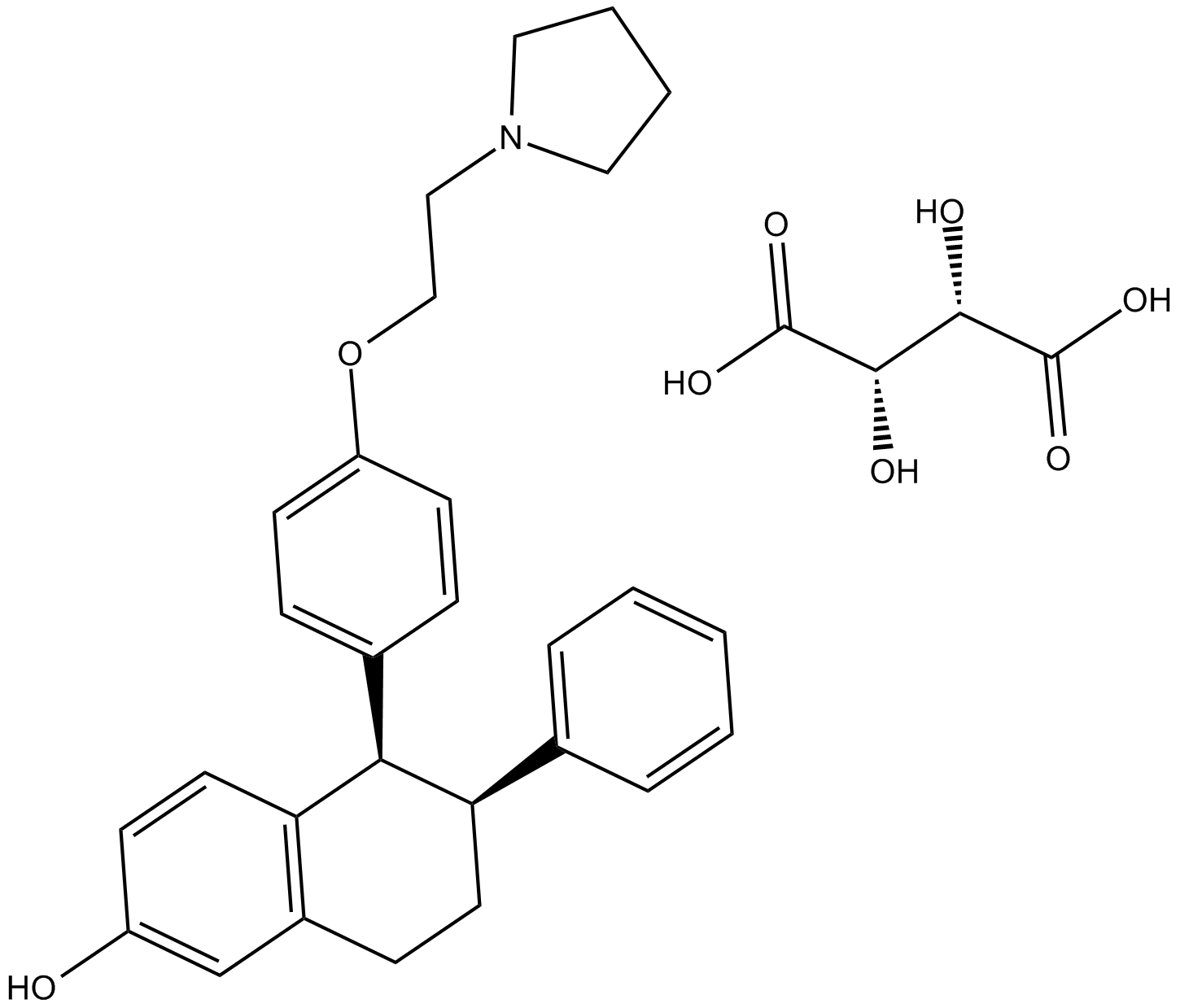 Lasofoxifene (tartrate)